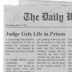 Judge Gets Life in Prison