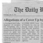 Allegations of a Cover Up